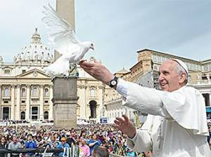 Pope Francis and Doves