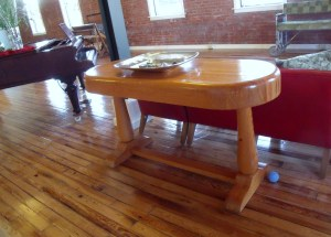Jim and his son built this table for Frances one year.