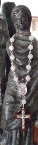 moonstone quartz St. Michael medal $18